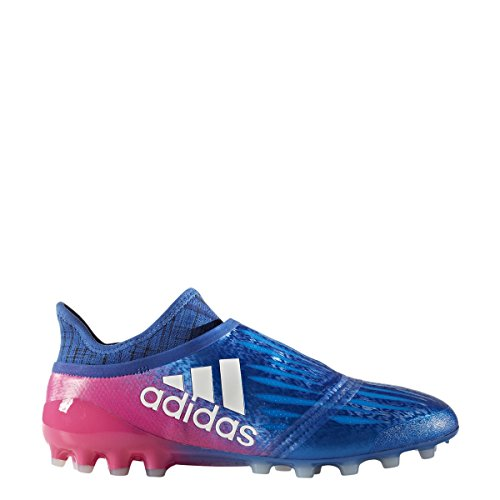 quality free shipping for sale adidas X 16+ Purechaos AG Cleat Men's Soccer Blue-white-shock Pink sale how much pLjki
