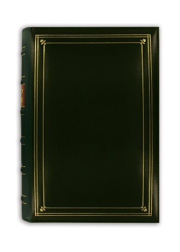 Leather Bound Album - Pioneer Photo 204-Pocket Ring Bound Photo Album for 4 by 6-Inch Prints, Hunter Green Bonded Leather with Gold Accents Cover
