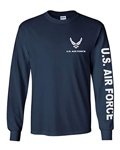 Officially Licensed United States Air Force Long Sleeve T-Shirt (Navy Blue, Medium)