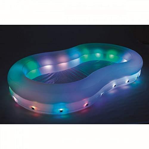 varilando LED de jardín de Pool planschbecken iluminado ...