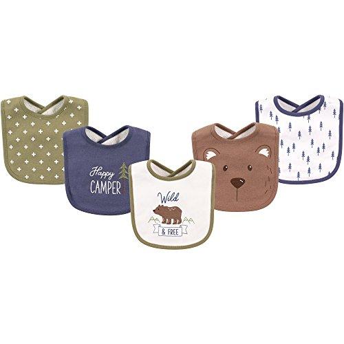 (Hudson Baby Baby Cotton Drooler Bib, 5 Pack, Bears, One)