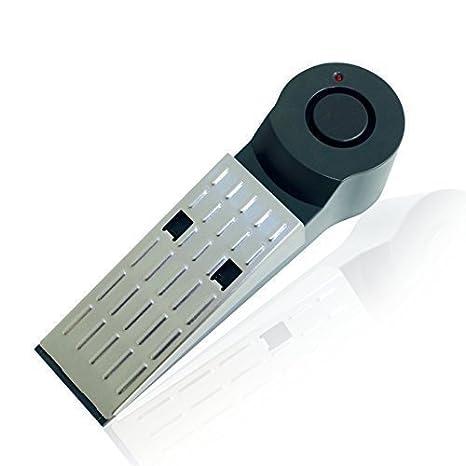 Tope para Puerta Alarma - Conjunto de 2 - Baterías Incluidas - Electrónica - 120dB - Protección antirrobo - Seguridad para el Hogar