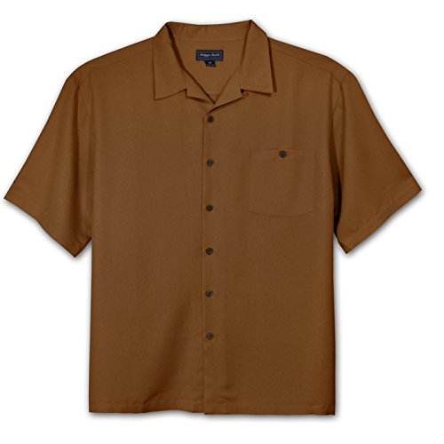 Big Clothing Smith (Indygo Smith Big and Tall Rayon Camp Shirt (Brown 4X-T))