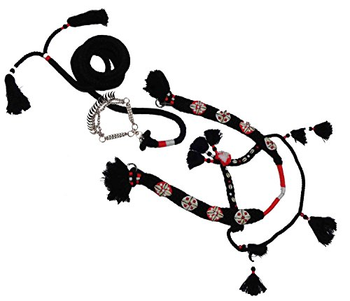 bonballoon Super Original Handmade Wool Horse Show Set Native Egyptian Egypt Arabian Arab Horse Show Halter Bridle + Lead + Nose Chain Nose Band with Beautiful Decoration Accessories and Beads 437 ()