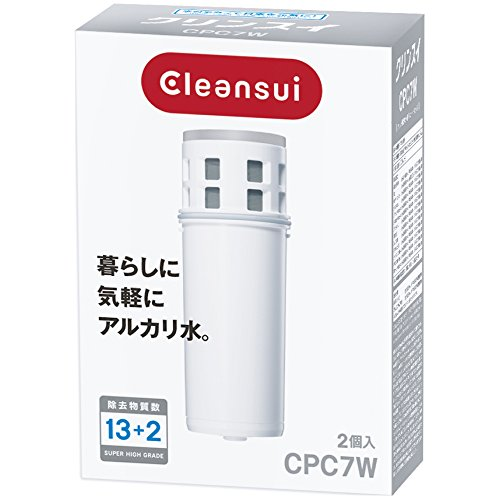 クリンスイ アルカリポットシリーズ ポット型浄水器用交換カートリッジ 2個入 CPC7W-NW