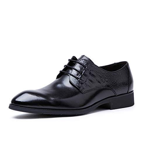 con Oxford decoración Color Black Zhuxin Hombres Gama Zapatos de EU Size patrón Black con Cuero Ocasionales Alta Zapatos de 41 del Cordones de Zapatos de wIrIqaZH