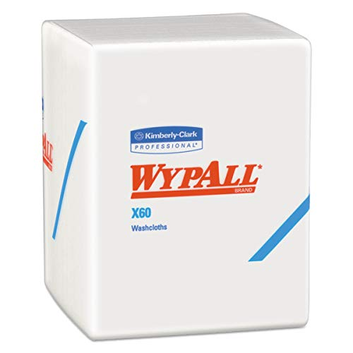 WypAll 41083 X60 Cloths, 1/4 Fold, 12 1/2 x 10, White, 70 per Pack (Case of 8 Packs) (Renewed)