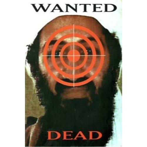 Wanted Dead, Osama Bin Laden 24x36 Art Print Poster Bulls Eye Target Wanted Poster September 11th