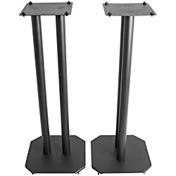 VIVO Premium Universal Floor Speaker Stands for Surround Sound & Book Shelf Speakers (STAND-SP03B)