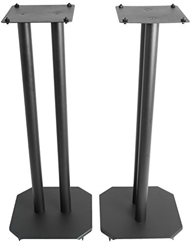 VIVO Premium Universal 25 Floor Speaker Stands for Surround Sound Book Shelf Speakers STAND-SP03B