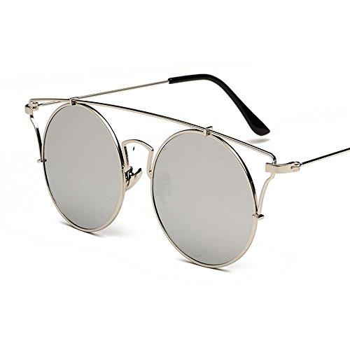 Aoligei Personnalité ronde lunettes de soleil femme lunettes de soleil tendance lunettes de clap décor soleil lunettes végétarien Yan Street WXvGzIIJv