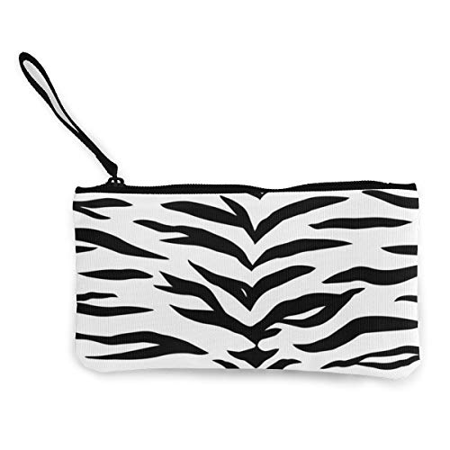 Terany Canvas Pencil Case - Zebra Pattern Durable Cosmetic Makeup Bag Zipper Closure Coin Purse Wallet Phone Pouch with Handle for Women Kids Adults]()