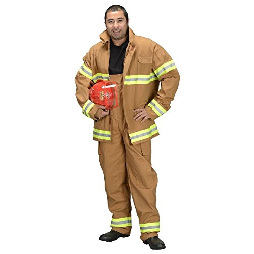 [GSG Adult Firefighter (Pants & Jacket Only) Costume Adult Halloween Fancy Dress] (Spider Queen Costume For Girls)