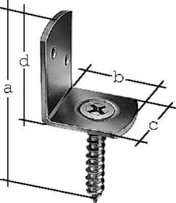 V2A Edelstahl rostfrei mit Holzschraube L-Winkel 3x3 cm