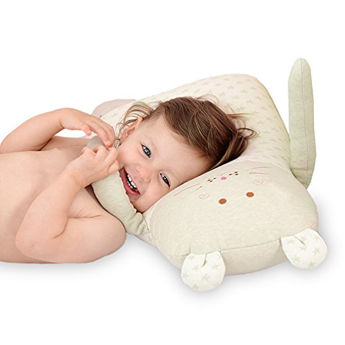 - Syshion 100% Organic Cotton Toddler Baby Pillow toy (Cluddy Lion ) From Newborn to 5 Years Old (Green)