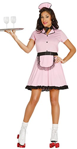 Ladies Roller Waitress TV Book Film Hen Do Night 50s 1950s American Dream American Diner Fancy Dress Costume Outfit (Large UK 16-18)