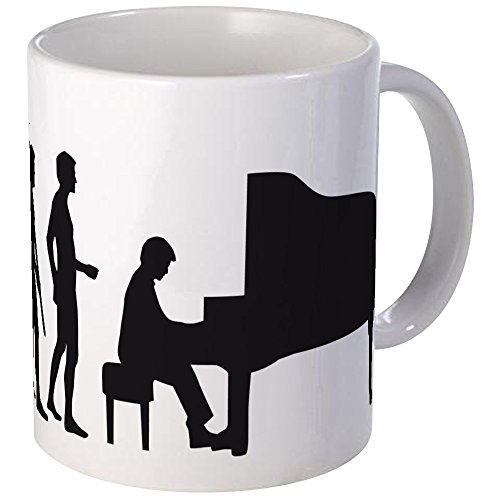 CafePress - Evolution Piano Player Mug - Unique Coffee Mug, Coffee Cup