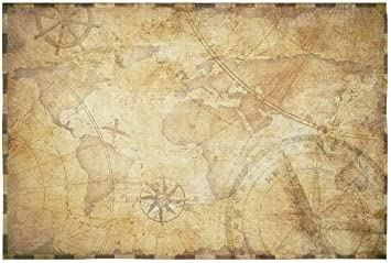 D-Story Custom Wall Tapestry Retro World map Cotton Linen Tapestry Wall Hanging 60 x 40 Wall Decor