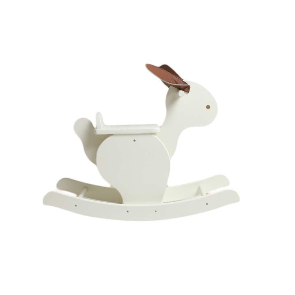 Cavallo a dondolo ZJING Legno per Bambini Giocattolo in Legno per Neonato Regalo Apprendimento Giocattolo Equilibrio