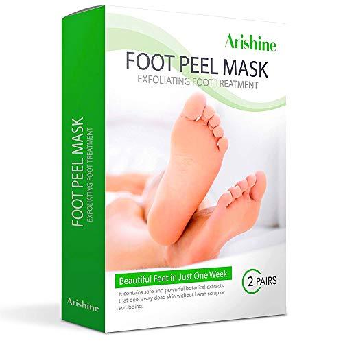 (Flax USA Exfoliating Foot Peel Mask, Soft & Smooth Feet, Peeling Away Rough Dead Skin & Calluses in 1-2 Weeks, Repairing Exfoliant Treatment by Arishine)