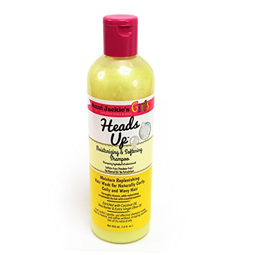 Aunt Jackie's Girls Heads Up Shampoo, Moisturizing and Softening Shampoo, Moisture Replenishing Hair Wash Great for Naturally Curly Hair, 12 Ounce Bottle (Best Shampoo For 4c Hair)