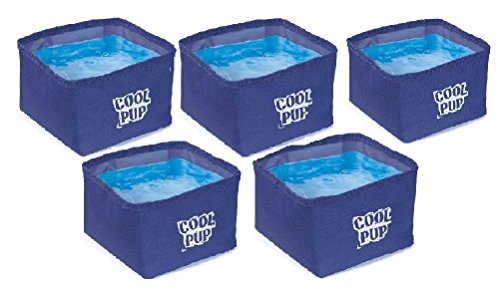 Cooling Dog Bowls-Portable Water Resistant Bowl With Cooler Insert Bulk Packs by Defonia Petsupplies
