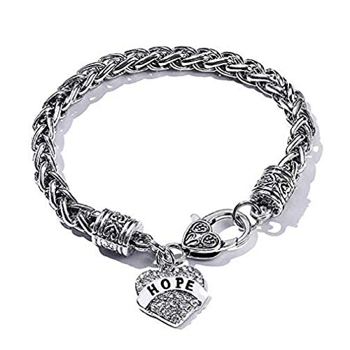 (FAVOT New Letter Heart Pendant Bracelet Crystal Silver Plated Chain for Family Member Jewellery Gifts Available in a Variety of Styles)