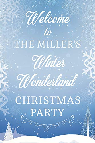 Winter Christmas Wonderland Party Sign Winter And Wonderland Theme with Snowflakes Design Welcome Sign Christmas Holiday Party Handmade Party Supply Poster Print, Size 36x24, -