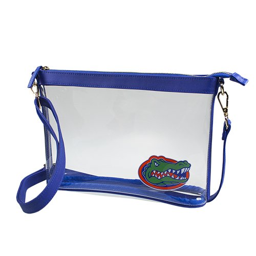 University of Florida Gators Capri Designs Clearly Fashion Licensed Clear Large Crossbody Meets Stadium - Warrington Shops