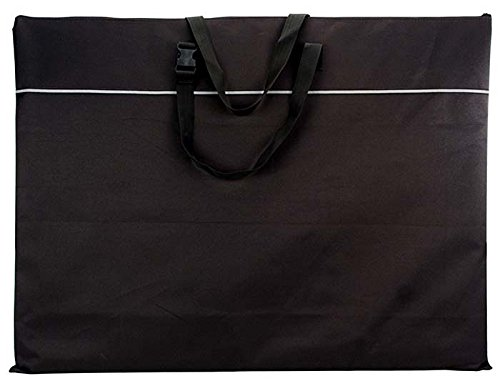 (Creative Hobbies 25 Inch by 33 Inch by 1 Inch Nylon Portfolio Light Weight Art Case, Black)