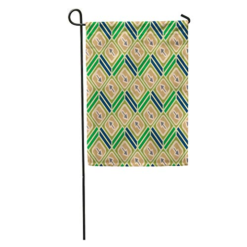 Semtomn Garden Flag Accent Abstract Pattern Arrows on Button Bottom Cellphone Download Dropbackground Home Yard House Decor Barnner Outdoor Stand 12x18 Inches Flag