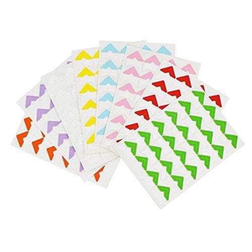 9 Sheets Multi-Colored Photo Mounting Corners Sticker Self-A