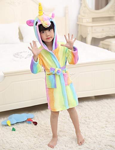 Mignon Et Chambre Nuit Enfants Style Vêtement Robe Fille Pour Chaud Peignoir De Licorne Doux Garçon Capuche B Flanelle Abollria Z8w4Xxq7n