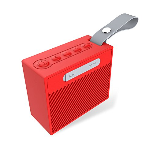 ooth Stereo Speaker Wireless Bluetooth Speakers with HD Audio and Surround Sound Outdoor Red ()