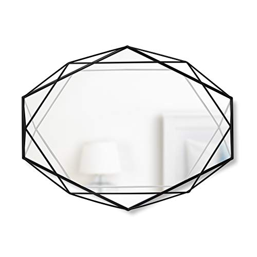 Umbra, Black Prisma Modern Geometric Shaped Oval Mirror Wall Decor for Bedroom, -