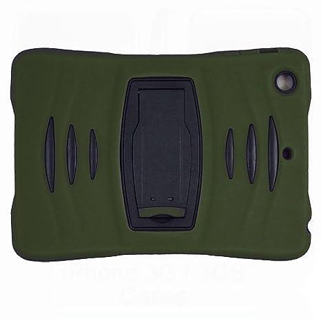 Doble Capa Silicona y Pl/ástico Choque absorbentelos Proteccion con Soporte y Protector Pantalla Azul Claro Xtra-Funky Funda Compatible con iPad Air 1 A1474 // A1475 // A1476