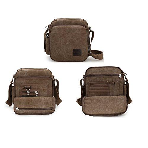 Casual Military Bag Outdoor Over Crossbody Gym For Mecooler Overnight Cross Travel Body Shoulder Messenger Pack Canvas Side Beige Men's Sports pWqWUAn1v7