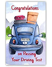 Pack of 6 Congratulations On Passing Driving Test Cards