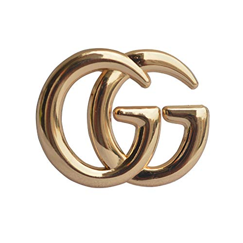 Vspormmo CC Brooch Pins for Women, GG Letter Fashion Designed Metal Bee Brooch for Crafts (Gold)