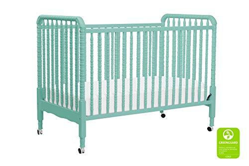 - DaVinci Jenny Lind 3-in-1 Convertible Portable Crib in Lagoon - 4 Adjustable Mattress Positions, Greenguard Gold