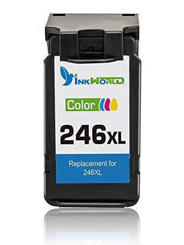 Inkworld CL-246XL for 246 Color Remanufactured High Yield Ink Cartridge Compatible with Pixma MG2522 MX492 MG2520 MG2920 MG2420 MX490 MG2525 MG2555 MG3020 - Show Accurate Ink Level (1 Color)
