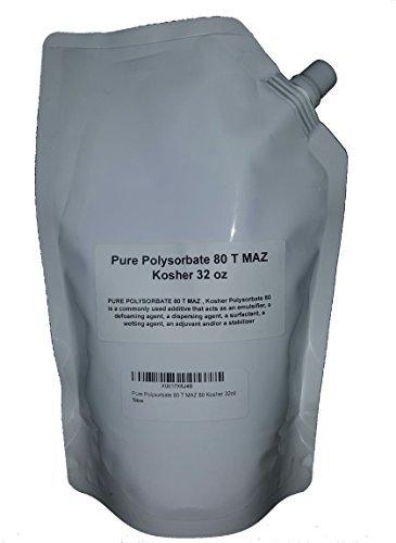 Pure Polysorbate 80 T MAZ 80 Kosher 32oz
