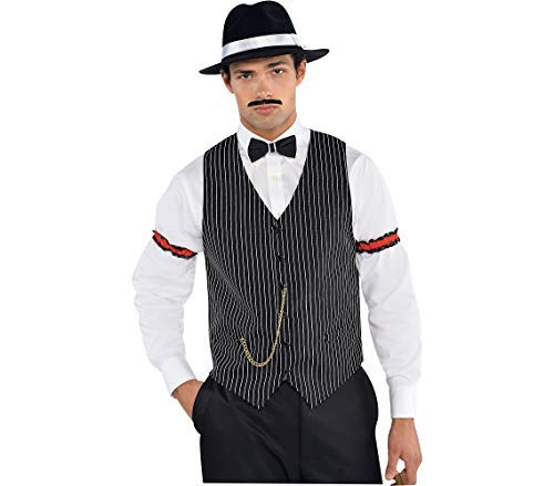 AMSCAN Roaring 20s Gangster Vest Halloween Costume Accessories, One Size -