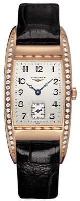 Longines BelleArti 18k Rose Gold Diamonds Womens Strap Watch L25019733