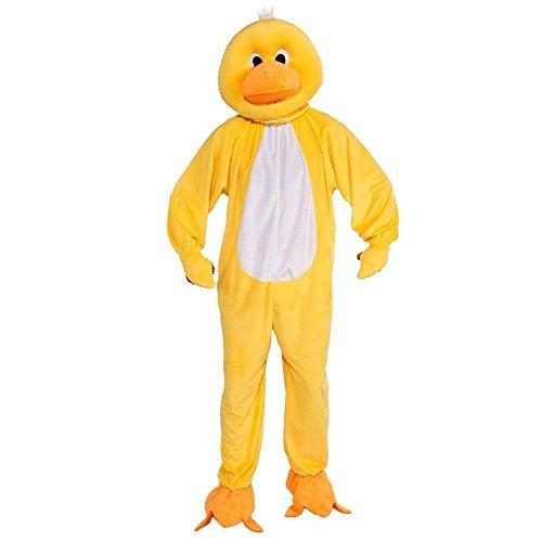 Forum Novelties Men's Plush Duck Mascot Adult Costume, Yellow, Standard -