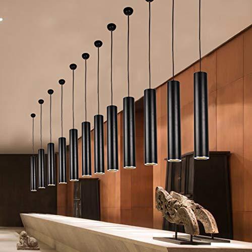 Lx.AZ.Kx E27 Pendelleuchte Das Restaurant ist modern im minimalistischen Treppenlicht-zeitschalter Single-Barrel Roll-Light Pendelleuchten, 80  85W warmes Licht
