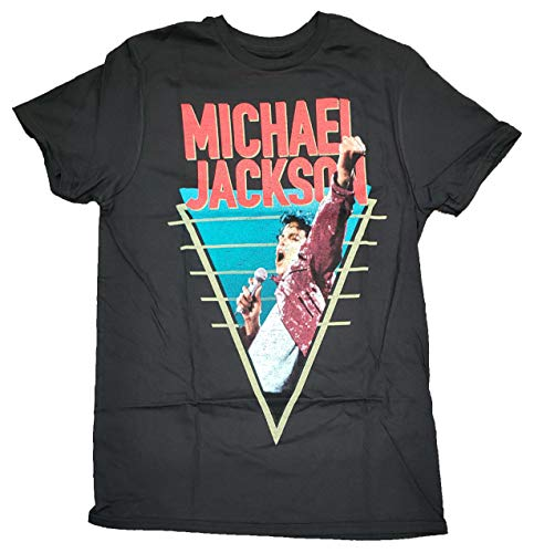 Fashion Michael Jackson Black Graphic T-Shirt - Large,Large 42/44
