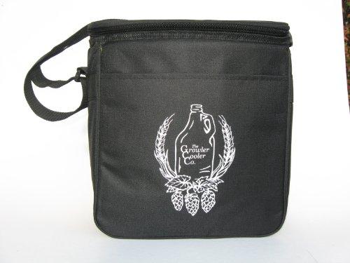 Black Double Growler Cooler (Black) (Beer Growler Carrier)