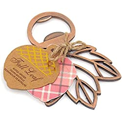 6PCS Maple Leaf Bottle Openers, Wedding Favor Souvenir Gift Set (6PCS Maple Leaf)