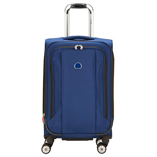 Delsey Luggage Aero Soft 21 inch Spinner Carry on, Cobalt